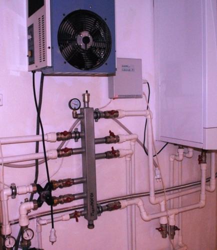 Трубная обвязка водонагревательного котла