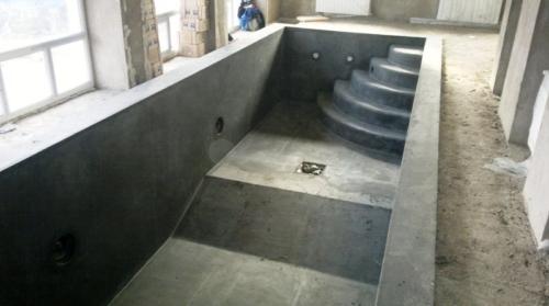 Подготовка чаши бассейна к отделке
