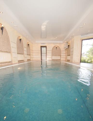 Бетонный переливной бассейн отделанный мозаикой