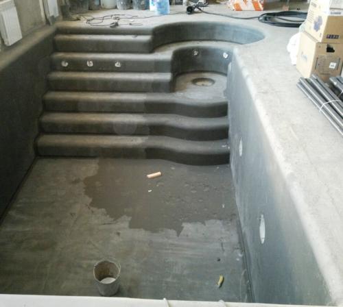 Гидроизоляционное покрытие бассейна со spa-зоной