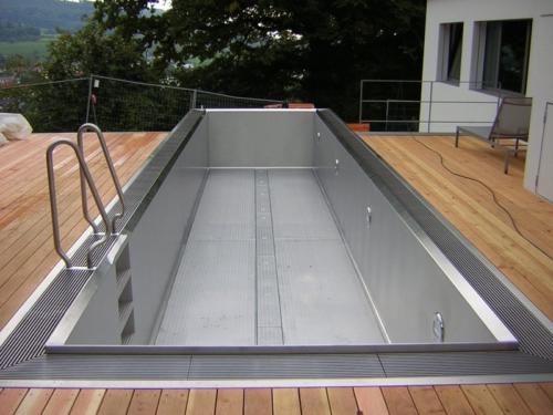 Прямоугольный бассейн из нержавеющей стали