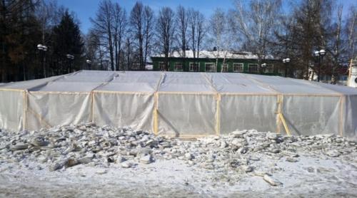 Строительство фонтана в зимний период
